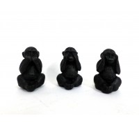 **Set 3 Macacos Sabios calar/ ver / ouvir 7 cm x 4cm