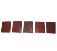 **Caderno de couro e Papel Virgem 13cm (Desenhos Variado)