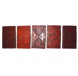 **Caderno de couro e com gravuras  23cm (Desenhos Variado)