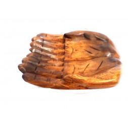 **Bandeja Mãos de Madeira 24cm