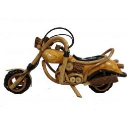 **Moto Artesanal em Madeira Tamanho 1