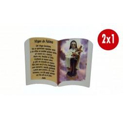 **2 X 1 Cintre de mur de la Vierge de Fatima 15Cm