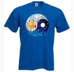 **A-34 Camiseta Yin Yang adulto unissex