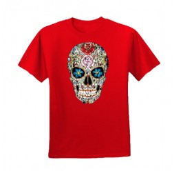 **A-44 Camiseta Skull Catrina adulto unissex