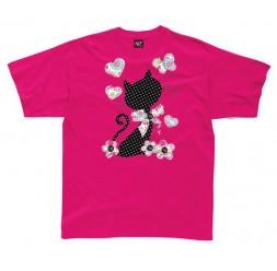 **G-72 Camiseta Cat Hearts infantil
