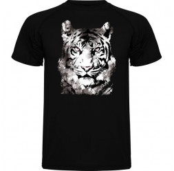 **A-51 Tee-shirt adulte unisex Tigre Blanc
