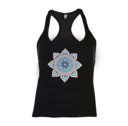 **i-3 Adult Woman shirt Mandala flower