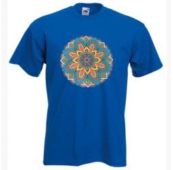 **i-4 Camiseta Mandala de cores adulto unissex