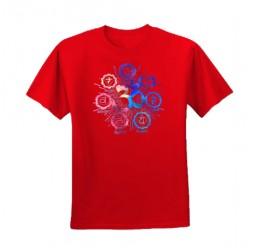**i-5 T-Shirt unisex Erwachsener Om 7 chakras