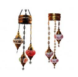 **Turkish Lamp Ceiling 3 Balls 1m 20cm (Various colors)