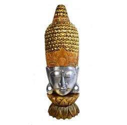**Busto cabeça de buda com incrustações de cristal 100cm