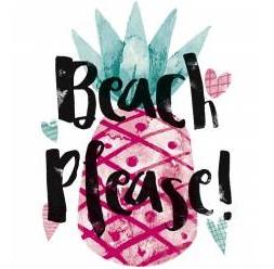 **J-45 Maglietta ananas spiaggia adulto Donna