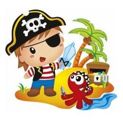 **J-34 maglietta Pirate Island da bambino