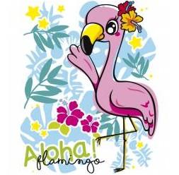**J-58 maglietta Flamingo da bambino