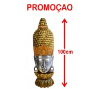 **Buddha head bust with sparkling crystals 100cm
