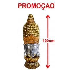 **Busto di Buddha testa con inserti di cristallo 100cm