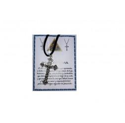 **Collana croce cristiana lega di Zinco