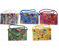 **Handbag elephant with embroideries and mirrors (various colors) price per unit