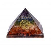 "**pyramide 3"" 7 chakras minérale orgonite"