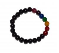 **bracelet 8mm Onix Negro 7 chakras (prix à l'unité)