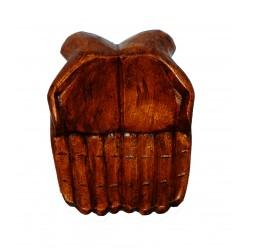 **Bandeja Mãos de Madeira 25cm