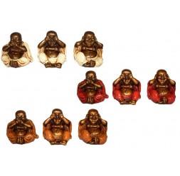 **Set 3 Budas Sábios (varios cores)