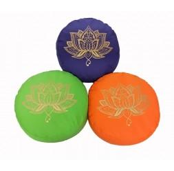 **Zafu (Flor de Lótus Dourada) Yoga profissional almofada meditação 33cm (preço por unidade)